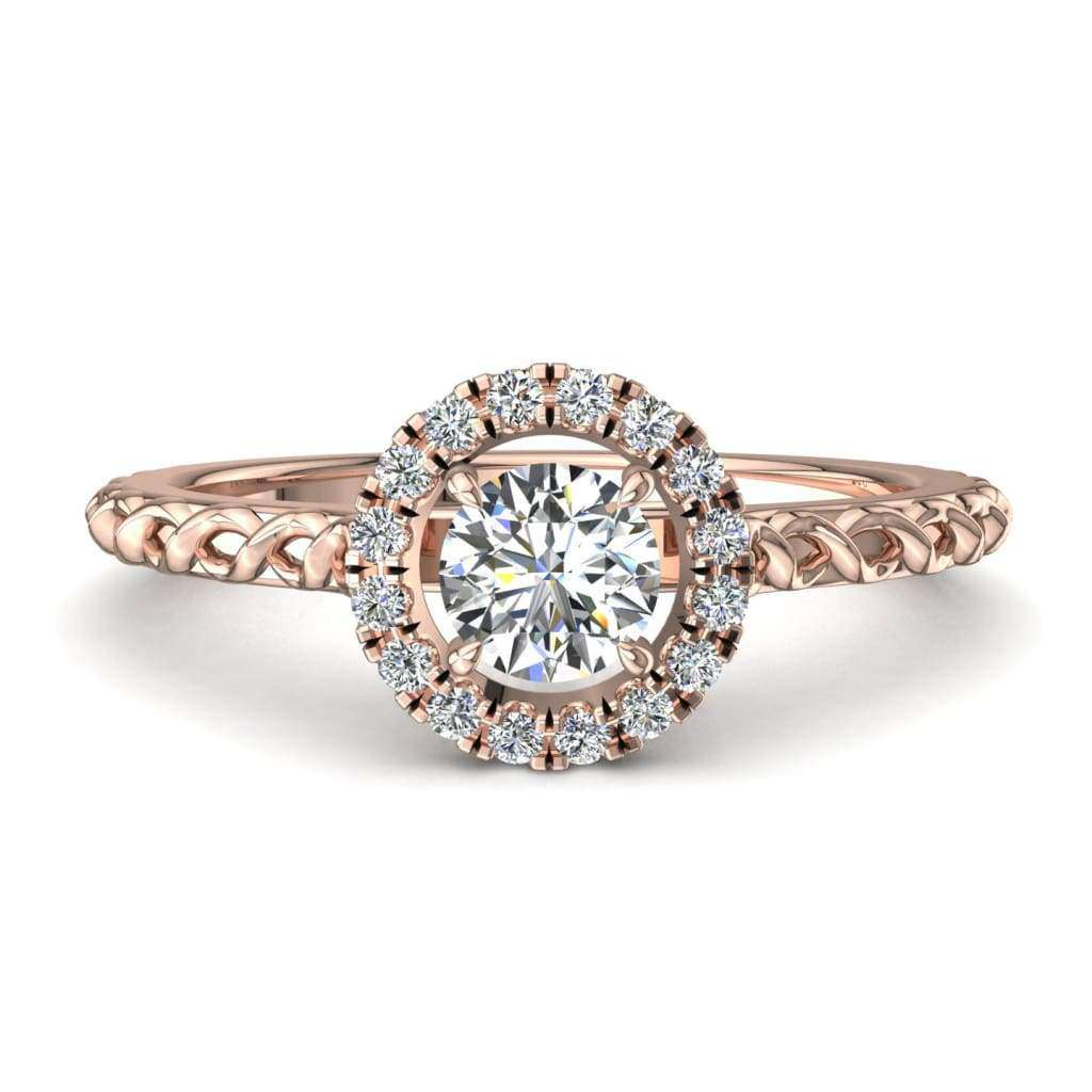 Bague de fiançailles diamants en or rose 0,25 carat Camila