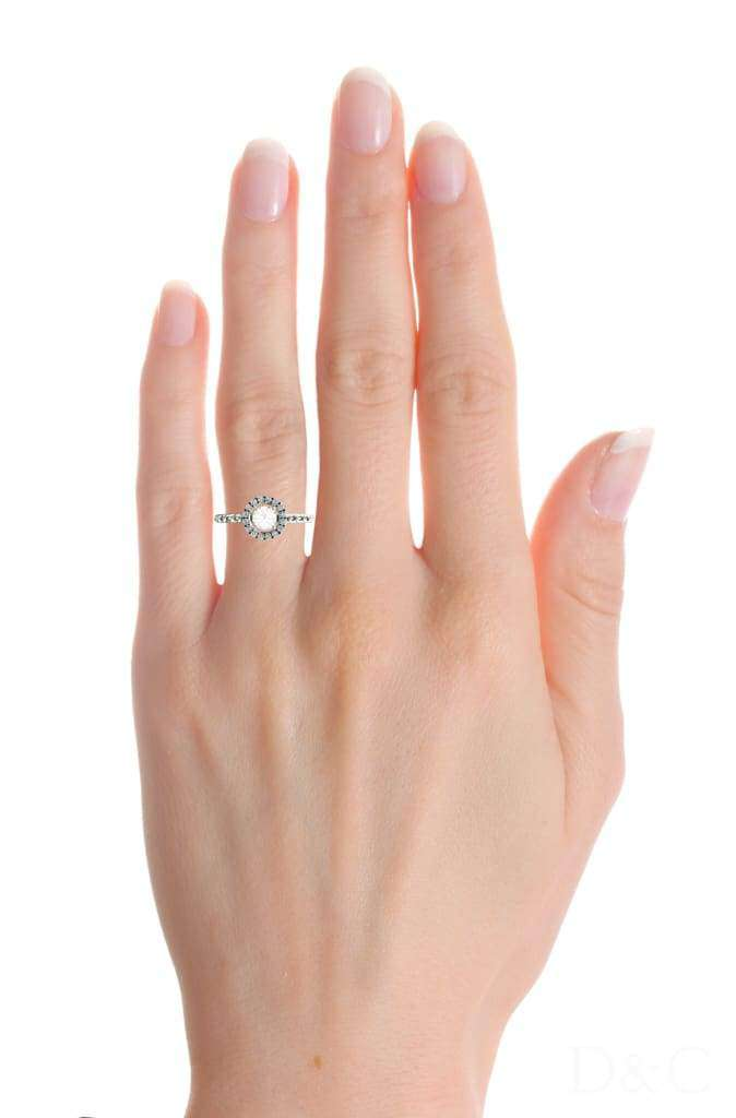 Bague de fiançailles diamants en or rose 0,20 carat Camila