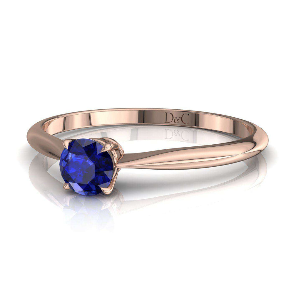 Bague De Fiançailles En Saphir Bleu En Or Rose 25 Carats Barran - Copy-Of-Bague-De-Fiancailles-En-Saphir-Bleu-En-Or-Rose-0-20-Carats-Barran