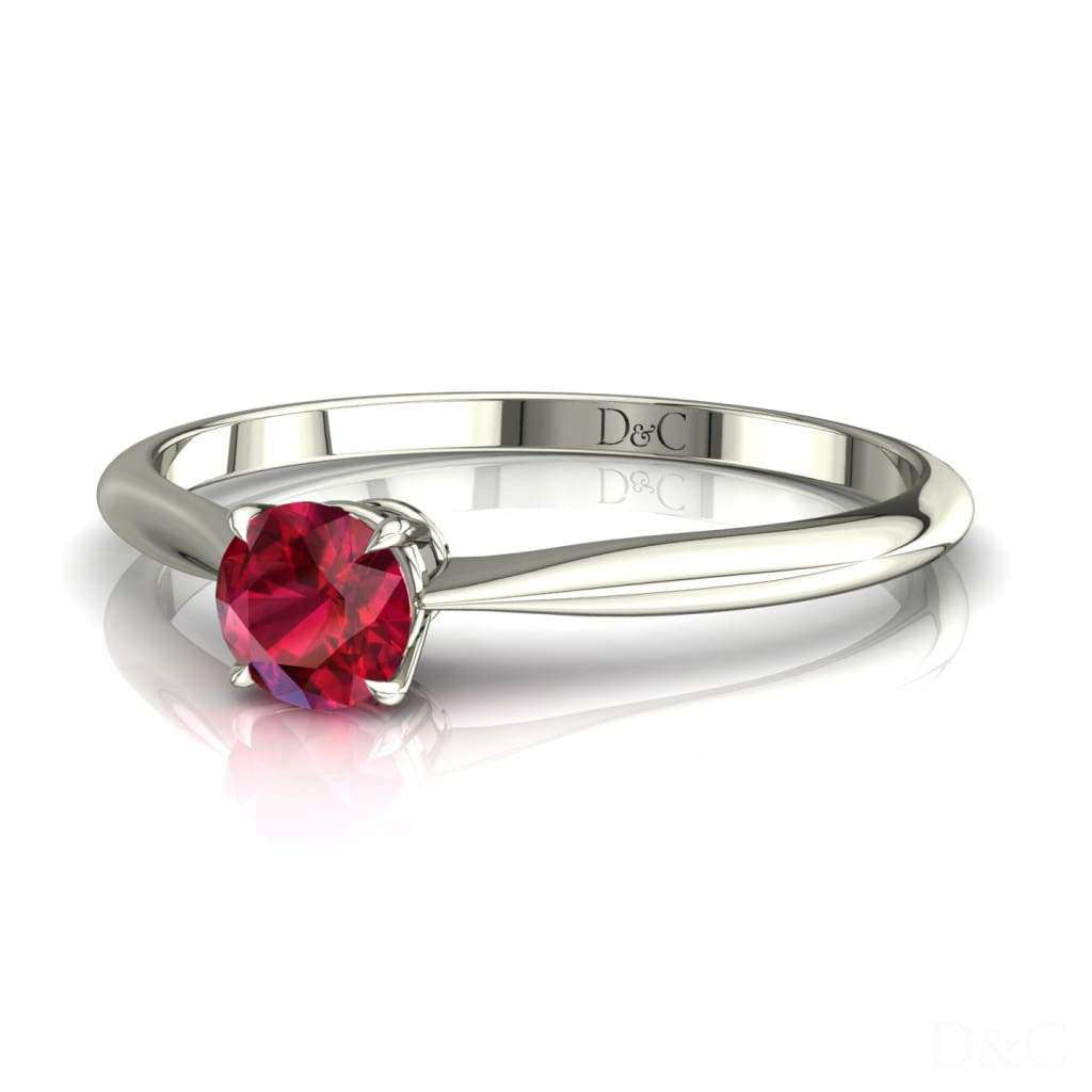 Bague De Fiançailles Rubis En Or Blanc 25 Carats Barran - Copy-Of-Bague-De-Fiancailles-Rubis-En-Or-Blanc-0-20-Carats-Barran Diamants Et