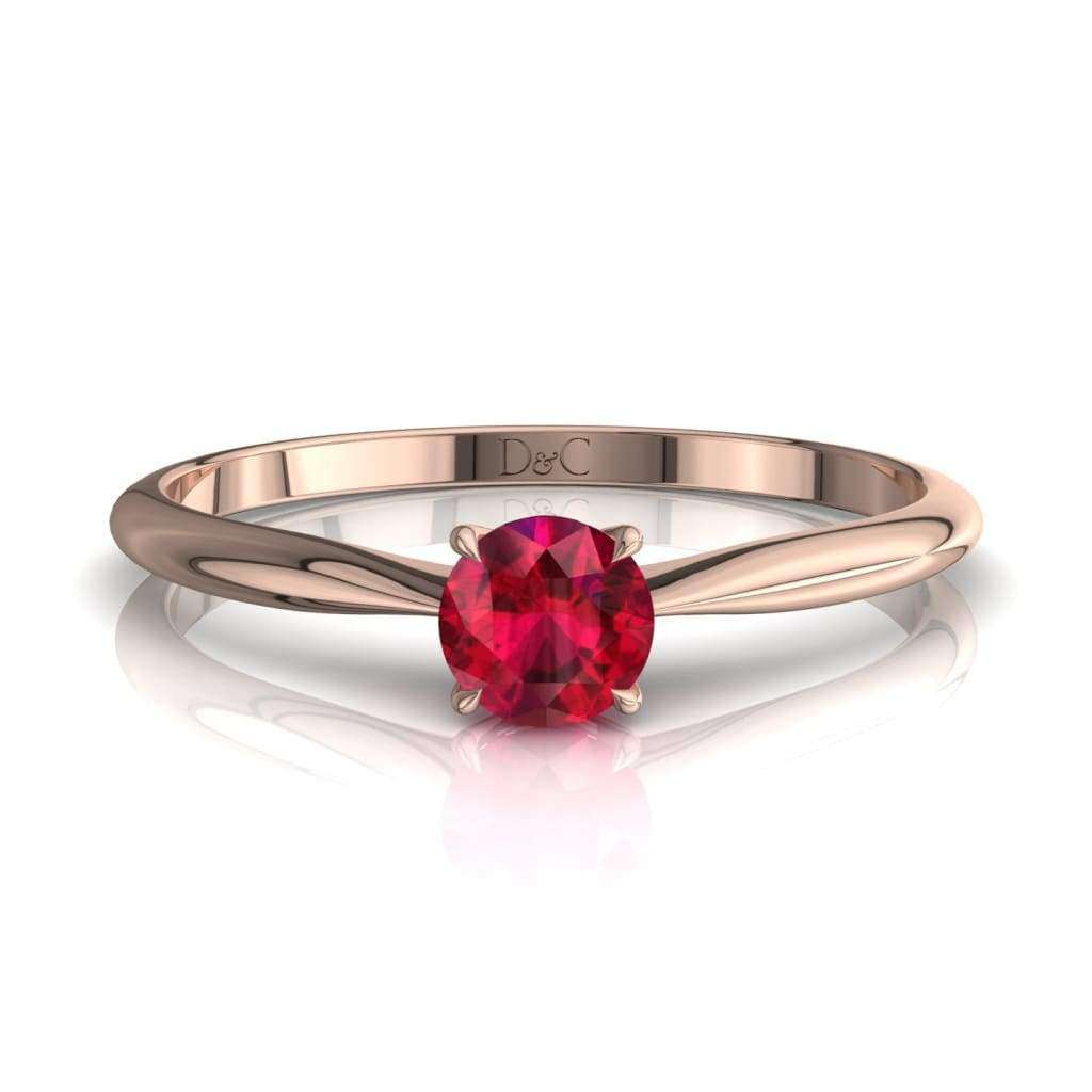 Bague De Fiançailles Rubis En Or Rose 25 Carats Barran - Copy-Of-Bague-De-Fiancailles-Rubis-En-Or-Rose-0-20-Carats-Barran Diamants Et