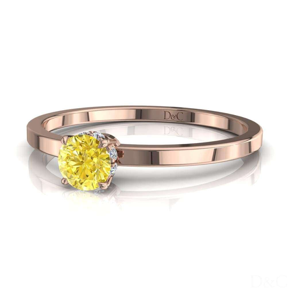 Bague De Fiançailles Saphir Jaune En Or Rose 30 Carats Valenta - Copy-Of-Bague-De-Fiancailles-Saphir-Jaune-En-Or-Rose-0-25-Carats-Valenta