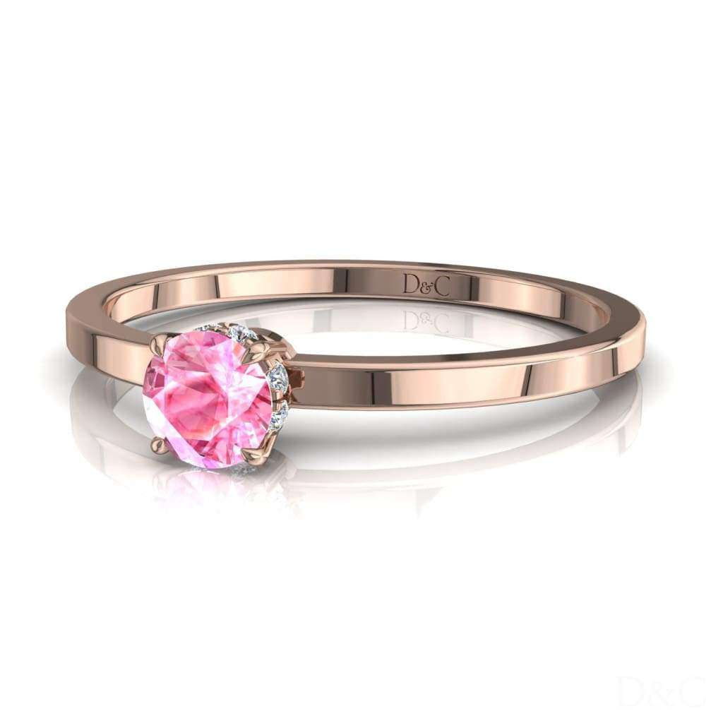 Bague De Fiançailles Saphir Rose En Or Rose 25 Carats Valenta - Copy-Of-Bague-De-Fiancailles-Saphir-Rose-En-Or-Rose-0-20-Carats-Valenta