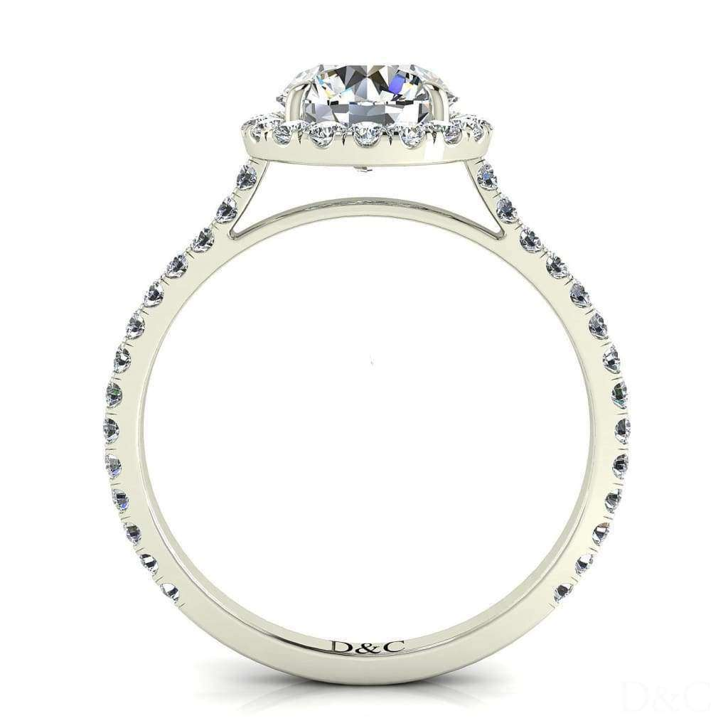 Bague solitaire diamant Camogli-rond 0.90 carat