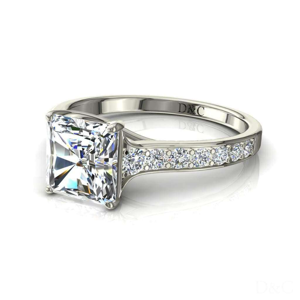 Bague diamant Cindirella-radiant 1.10 carat