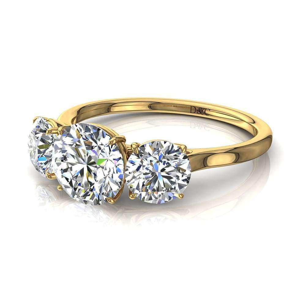 Solitaire trilogie diamants Alizia-ronds 1.30 carat