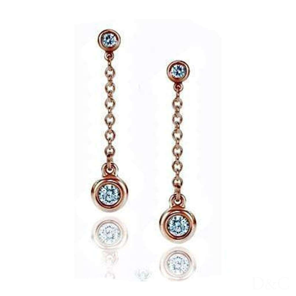 Boucles d'oreilles diamants 0.30 carats et or blanc
