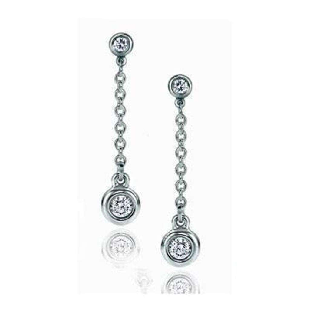 Boucles Doreilles Diamants 0.30 Carats Et Or Blanc - Boucles-D-Oreilles-Diamants-0-30-Carat-Or-Blanc-Solfege Diamantsetcarats