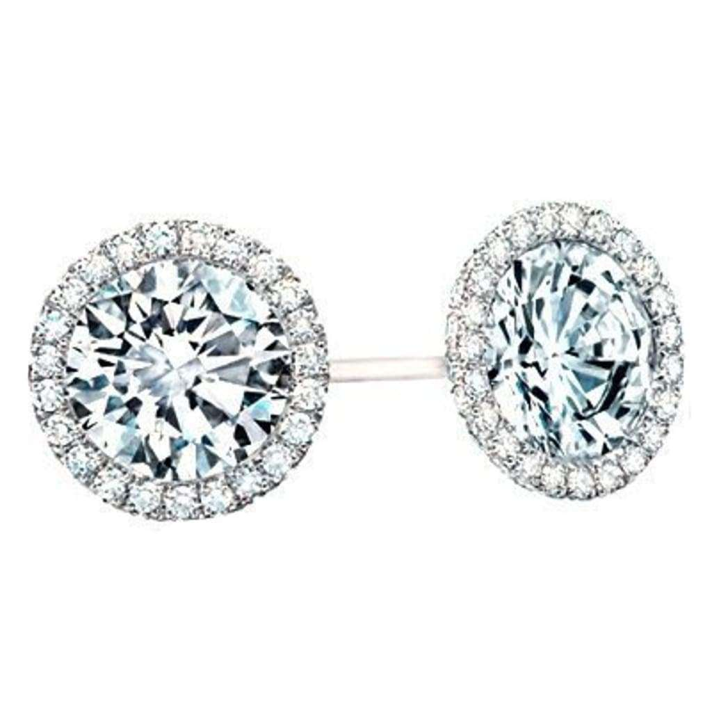 Boucles d'oreilles diamants 0.80 carats et or blanc
