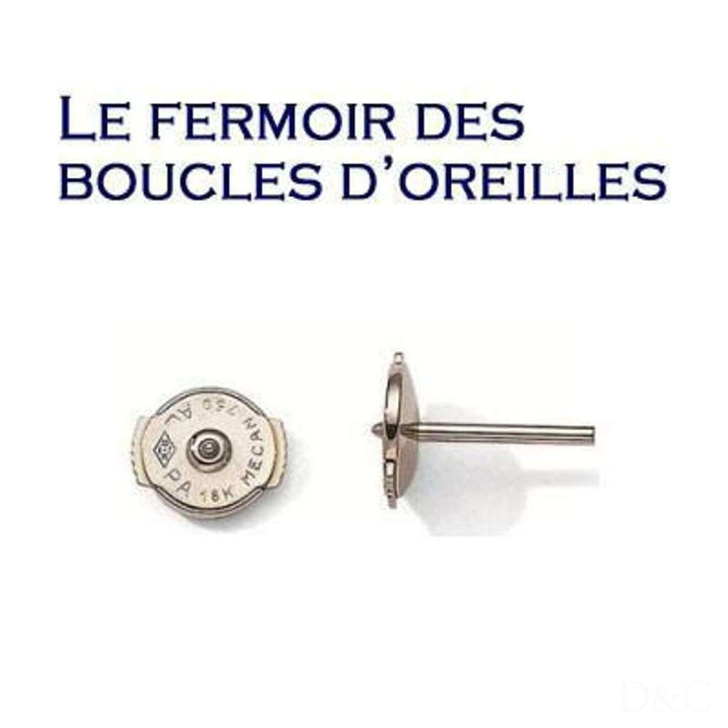 Boucles d'oreilles diamants 1 carats en or blanc ou jaune
