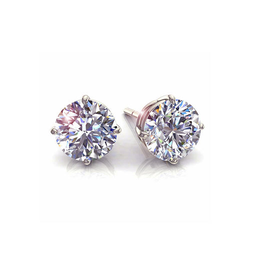 Puces diamants ronds 0,40 carat Irina
