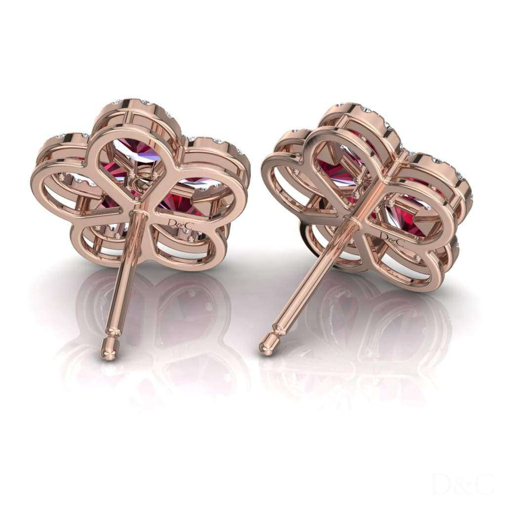 Boucles Doreilles Rubis Et Diamants Or Rose Jeanne - Boucles-Doreilles-Rubis-Et-Diamants-Or-Rose-Jeanne Diamants Et Carats