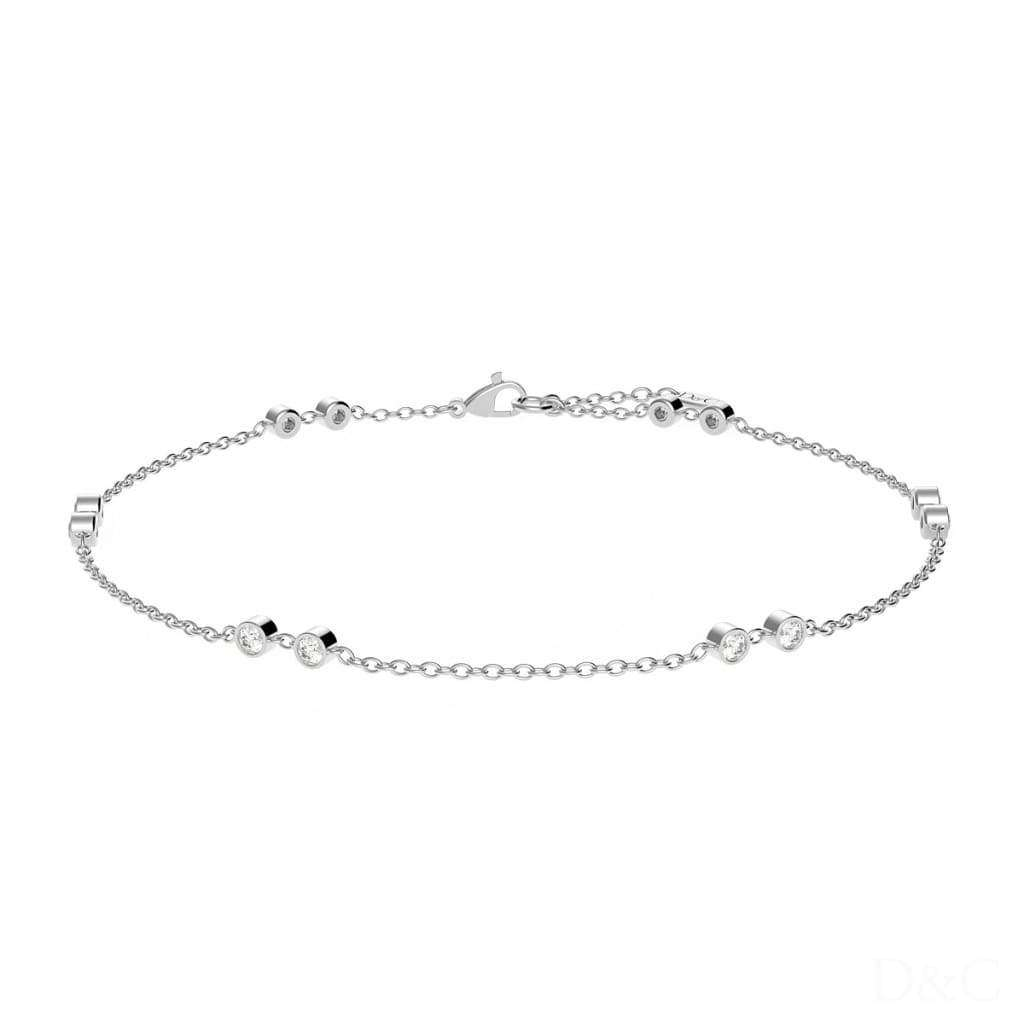 Bracelet or et diamants serti de 12 diamants total 0.12 carats or blanc Marianna