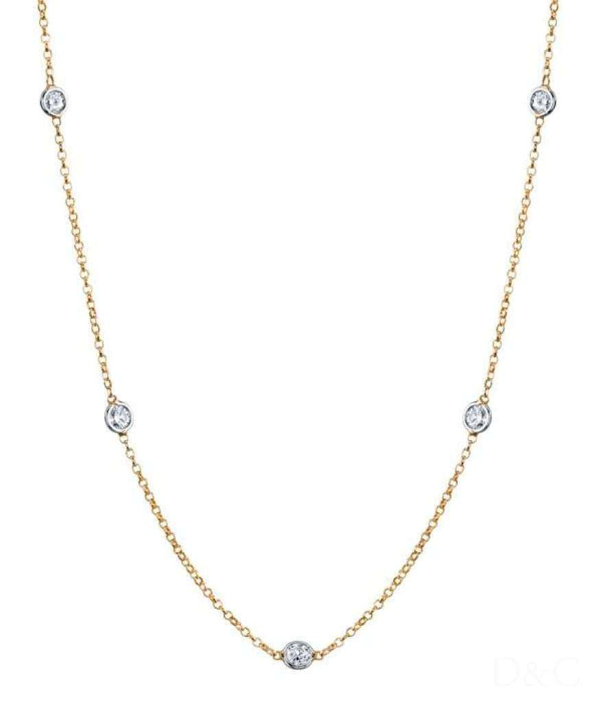 Collier 5 diamants 1 carat