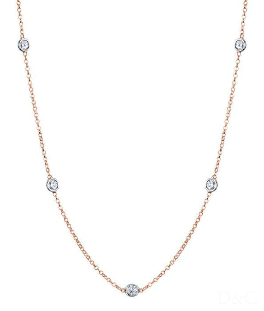 Collier 7 Diamants 35 Carats - Collier-7-Diamants-0-35-Carat-Or-Blanc-Alia Diamantsetcarats