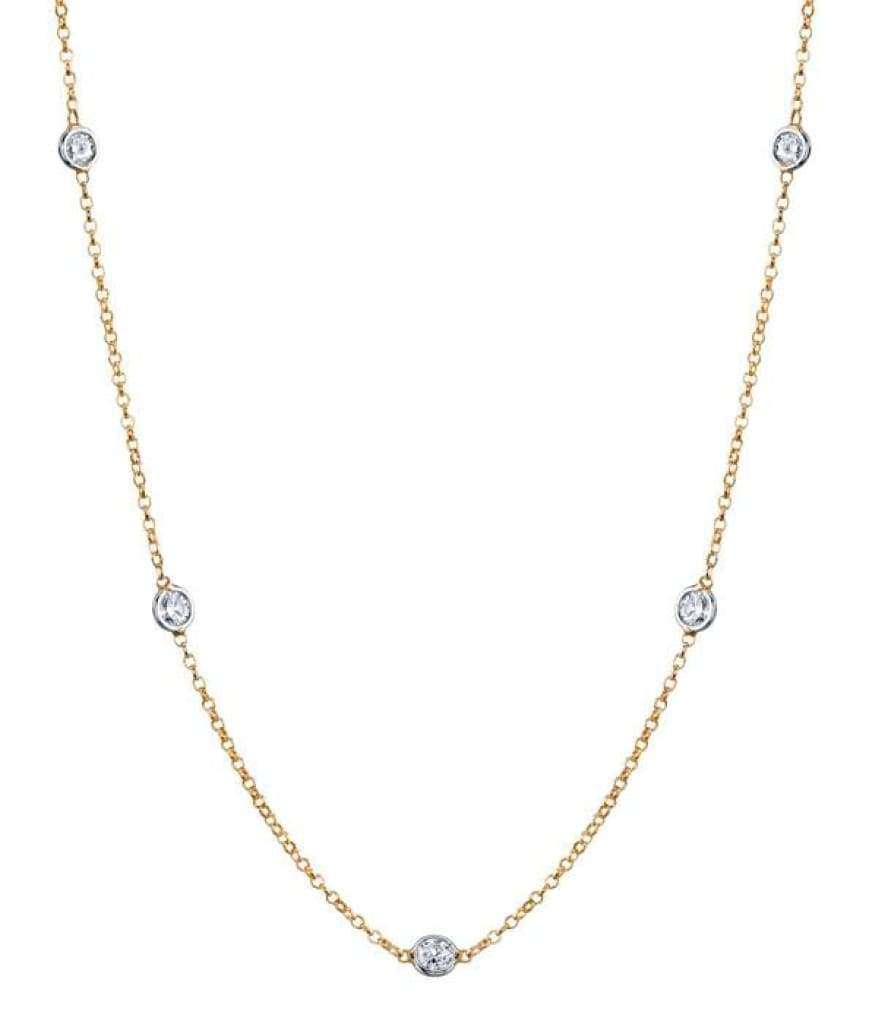 Collier 7 diamants 0,35 carats