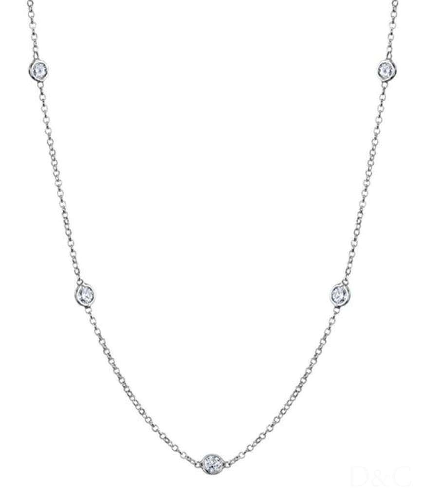 Collier 7 Diamants 1.05 Carats - Collier-7-Diamants-1-05-Carat-Or-Blanc-Alia Diamantsetcarats