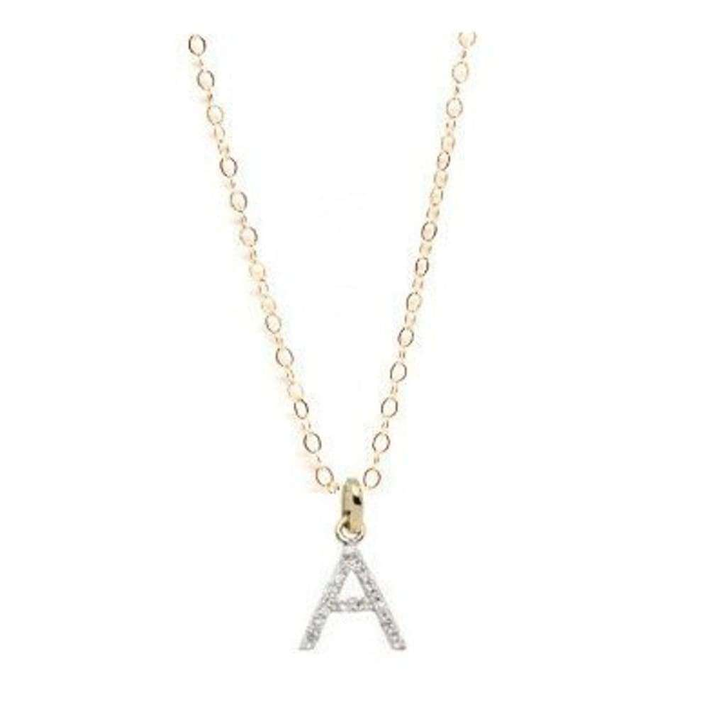 Collier lettre or et diamants