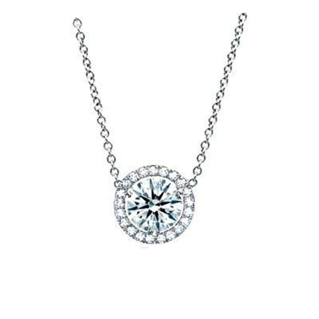Pendentif Diamant 0.40 Carat Or Blanc. - Copy-Of-Pendentif-Diamant-0-50-Carat-Or-Blanc Diamantsetcarats
