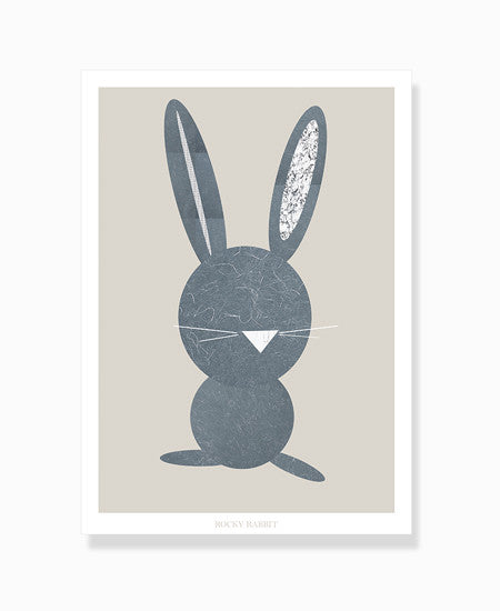 grafisk print rabbit kanin by Frema