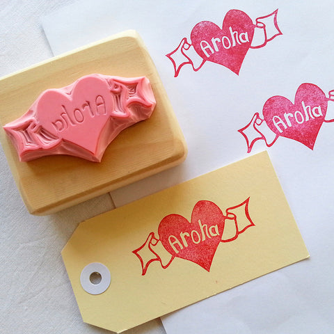 Aroha - Hand Carved Stamp