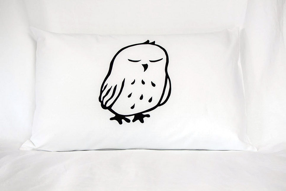 Morepork - Handprinted Pillowcase