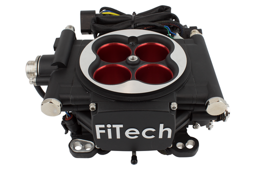 30004 - Go EFI 4 - 600 HP EFI System - Power Adder - Matte Black Finish - FiTech