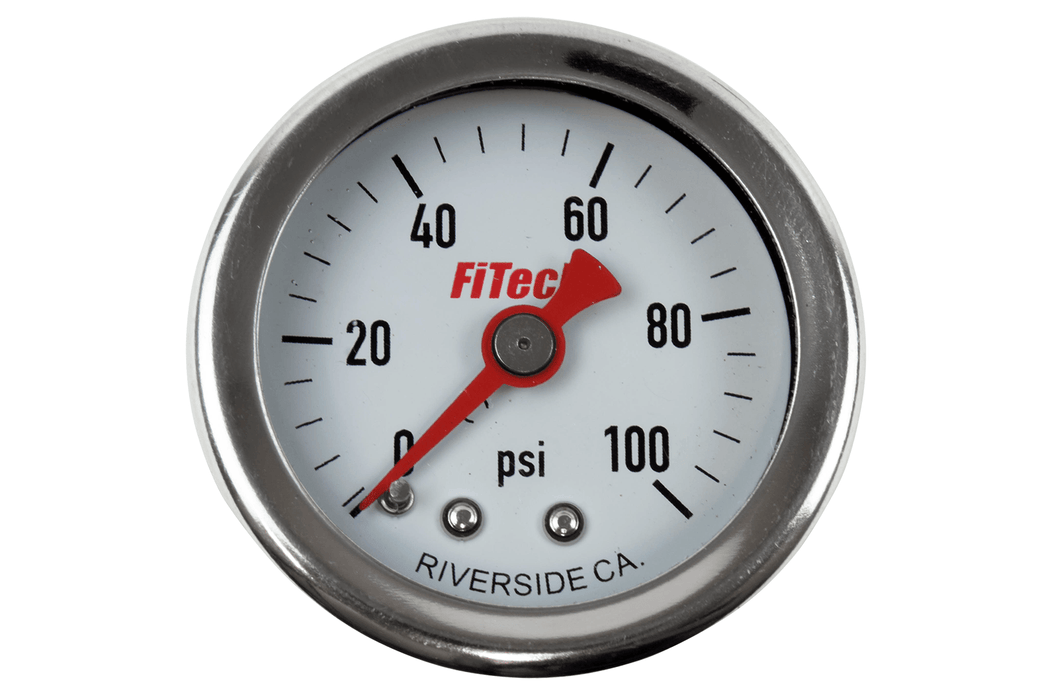 80117 - 0-100 Oil Filled Pressure Gauge - FiTech