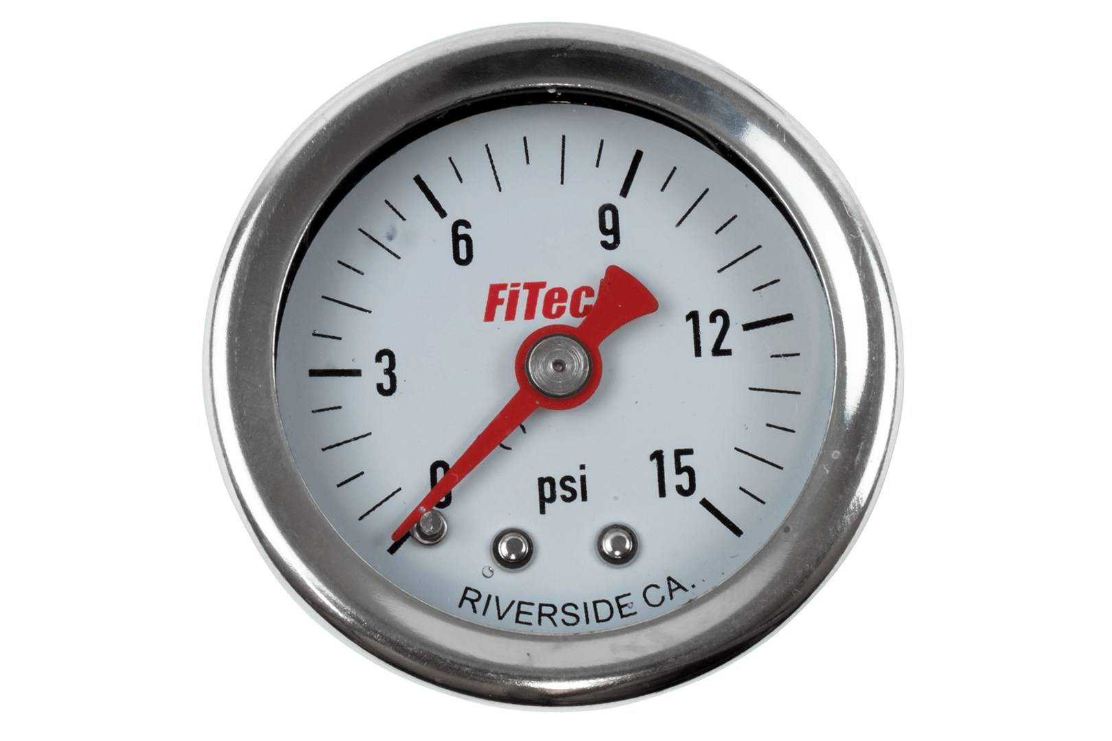 80118 - 0-15 Oil Filled Pressure Gauge - FiTech