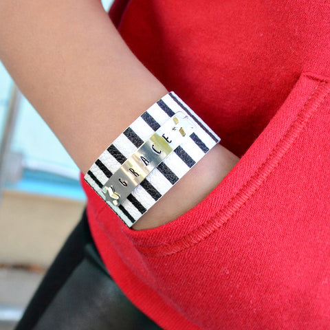 Behind Bars Custom Striped Cuff