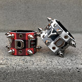 Buffalo Plaid Cuff- Letter Studs & Spikes