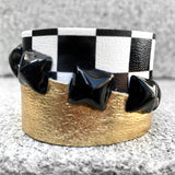 Metallic Gold Checkered Cuff