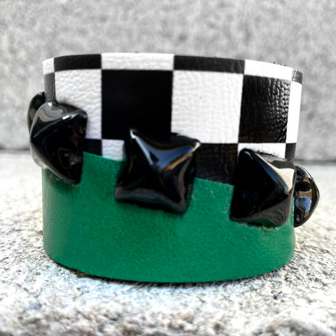 Jolly Green Checkered Cuff
