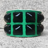 Kelly Green Studded Cuff