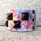 Colorful tie dye leather cuff for kids
