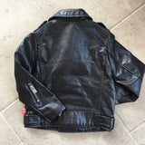Vegan Leather Moto Jacket: Black