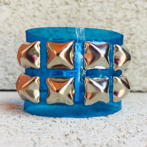 Blue Studded Jelly Cuff