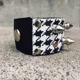 Spiked Houndstooth Cuff