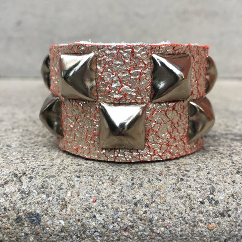 Champagne Creamsicle Studded Cuff