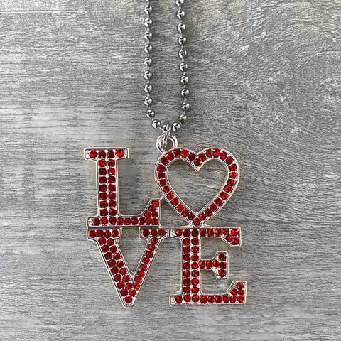 Red LOVE Necklace