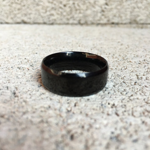 Black Diamond Cut Edged Ring, 8mm