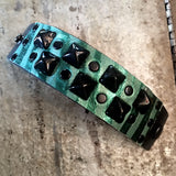 Green Zebra Studded Cuff