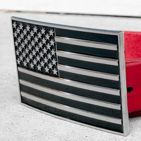 USA Mono Flag Belt Buckle