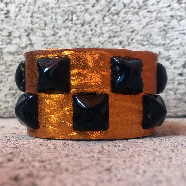 Orange You Glad Studded Cuff