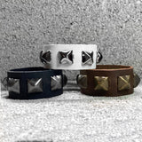 Leather Studded Cuff: Single