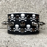 Skull and Crossbones Spiked Cuff