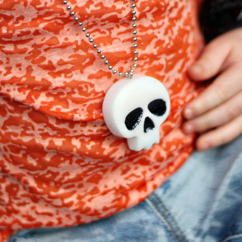 RTS Resin Skull Necklace