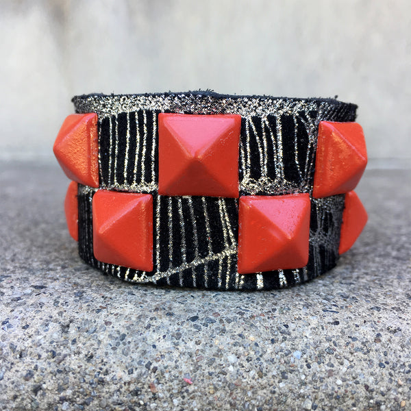 Metallic Spiderweb Cuff