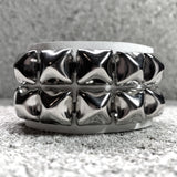 Super Stud Leather Cuff: Double