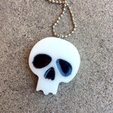 White Resin Skull Necklace